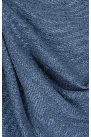 Velours linnen blauw