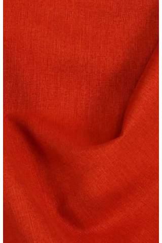 Lichte velours look oranje rood