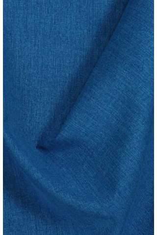 Lichte velours look kobalt blauw