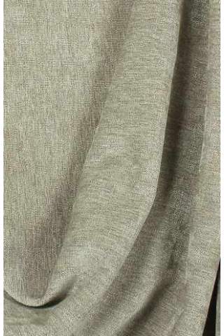 Velours Chenille linnen zand grijs