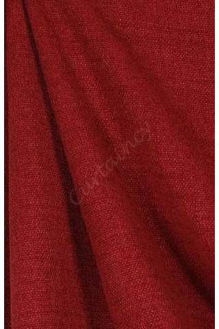 Velours linnen bordeaux rood